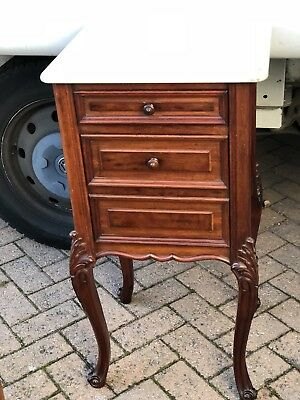 Antique French Mahogany Bedside Cabinet Louis XV