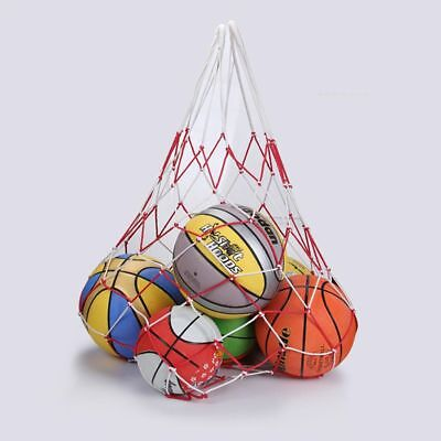 Large Sports Ball Hoop Mesh Net 10 Balls Carry Net Bag for Basketball Football