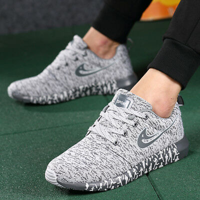 UK Mens Slip On Memory Foam Casual Walking Running Gym SPORT Trainers Shoes Size
