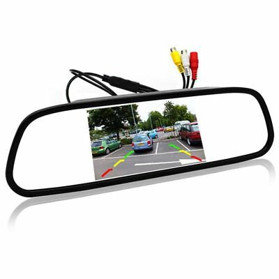 5 inch Digital Color TFT 800x480 LCD Car Parking Mirror Monitor 2 Video Inp N8G6