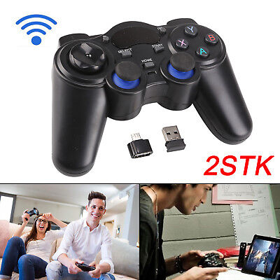 2 x 2.4G Wireless Funk Gamepad dual Vibration Controller für PC Android phones