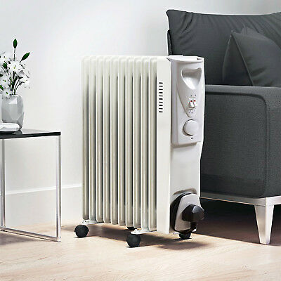 Oil Filled Radiator 7 Fin 1500W Portable Electric Heater with 3 settings NEW
