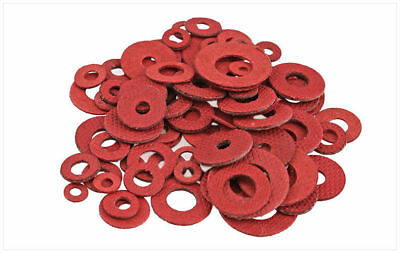 50-1000Pcs Red Insulating Fiber Washer Standard Metric Flat Washers M3 5 6