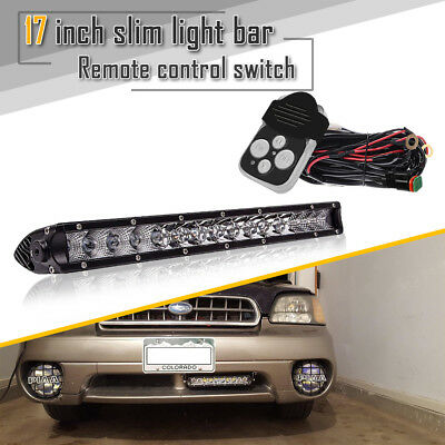 17Inch Led Light Bar Driving Led Bar Single Row Wiring Kits For Trucks Silverado
