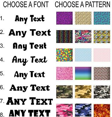 Custom Personalised Name/Word Cut-Vinyl Decal Sticker 8 Pattern Font Styles
