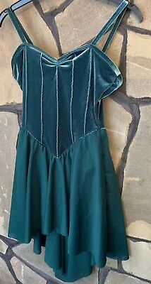 Ladies Curtain Call Green Skating Dance Dress Size Adult Small