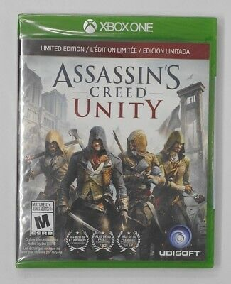 New! Assassin's Creed Unity Limited Edition Xbox One - French Canadian Packaging