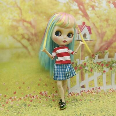 12inch Fashion Dolls Outfit Tee & Skirt Underpants For Blythe Beach Dress-up