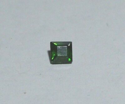 Small Chrome Diopside loose gemstone. 4mm. 02