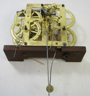 Antique Seth Thomas Og Weight Driven Clock Movement Parts Repair