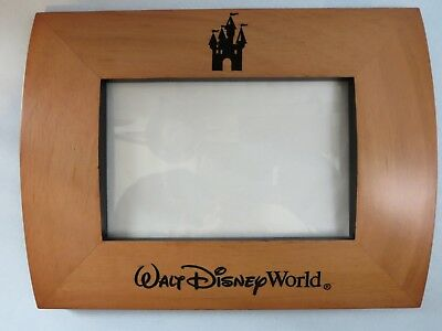 Walt Disney World Wooden Photo Frame Holds One 4 X 6 Picture Park