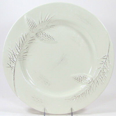 """Target BIRCHWOOD CHALET 10.75"""" Dinner Plate Holiday 2010 Mint Pinecone"""