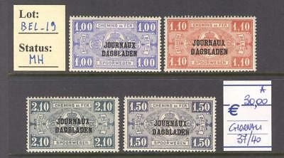 BEL_19 - BELGIUM. Early 1900s paper delivery set. Mint