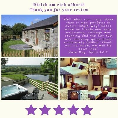 Holiday Cottage in West Wales, Cardigan Bay, Hot Tub, overlooking fishing lake.