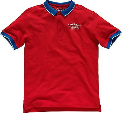 Firetrap Boys Short Sleeved Red/Blue Polo T Shirt 8-9 Years