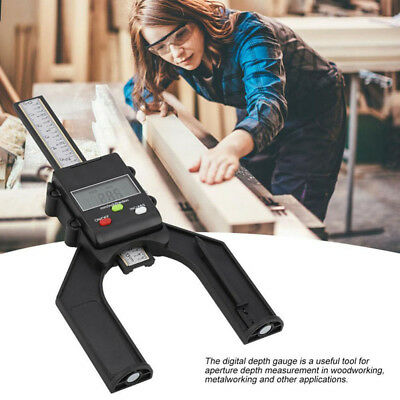 80mm LCD Digital Height Depth Gauge Tester Measure For Woodworking Table Saw