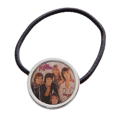 Bay City Rollers Set Of 2 Elastic Hair Ties Scrunchie Rubber Band y119 v0029