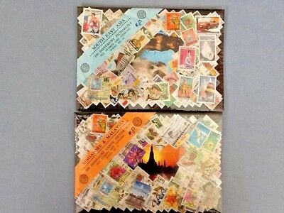 Two Lots of 100 Stamps Ea. from Singapore & Malaysia; and South East Asia/ Canc