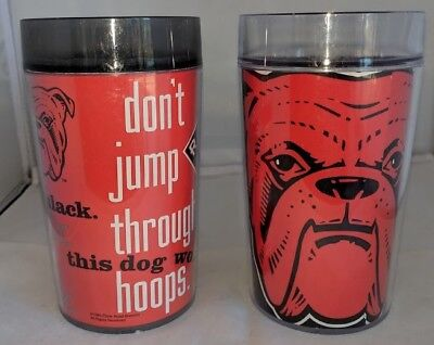 Thermo-Serv Red Dog Beer Insulated Beer Mugs, 2 Different Designs Good Condition