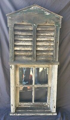 Antique Barn Vent Windows 4 Lite Garden Shed Shabby Vtg Old Chic 27X58 252-18C