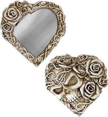 Skull & Roses Fate Narcissus Heart Compact Beauty Mirror Mori V39 Alchemy Gothic