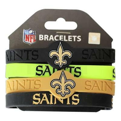 NFL Officially Licensed 4 - Pack Silicone Bracelet Choose Your Favorite Team