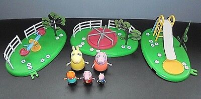 PEPPA PIG PLAYGROUND Toy Bundle : Slide, Roundabout, See Saw