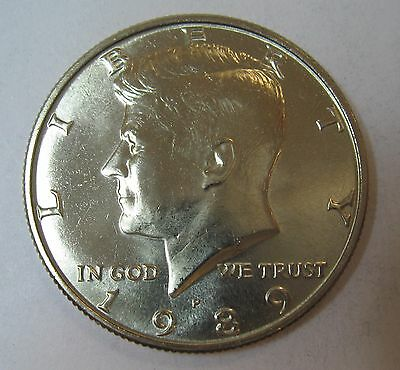 1989-P John F Kennedy Clad Half Dollar Choice BU Condition From Mint Set  DUTCH