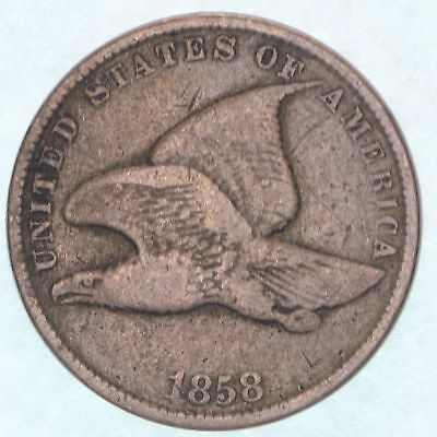 1858 Flying Eagle Cent Large Letters About Good Penny AG