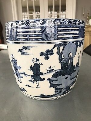 Antique Chinese Blue & White Planter