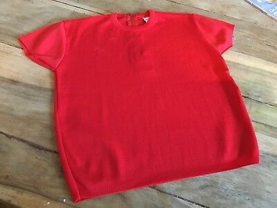 Vintage 60's red Knit Children's GirLs Jumper Age 8 deadstock So Never Worn
