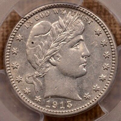 1915-S Better date Barber quarter, PCGS AU55, very pleasing   DavidKahnRareCoins
