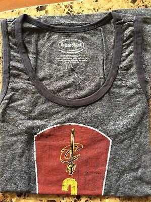 NBA Cleveland Cavaliers Kyrie Irving Womens Heather Navy Large Tank Top