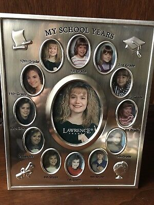Silver picture frame by Lawrence to display your child school pictures