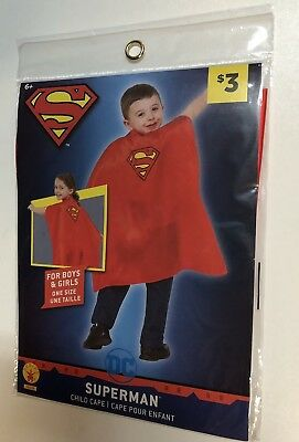 7a848e1d761fc Child Red Superman Cape Kids Boys Girls Man Of Steel Superhero Costume