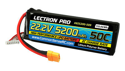 CMS6S5200-509 Lectron Pro 22.2v 5200mah 50c Lipo Battery with Xt90 Connector