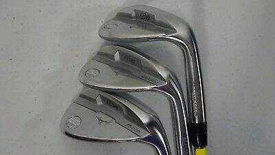 Mizuno Golf S18 White Satin 50*/54*/60* Dynamic Gold Wedge Flex M/C Grip