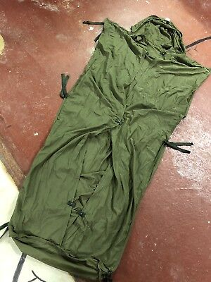 British 1985 Army Long Insect Proof Mummy Sleeping Bag Liner Cover Accessory