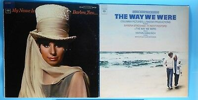2 Barbra Streisand Vinyl LPs Lot Barbra 2 + Way We Were Film Soundtrack VTG VG