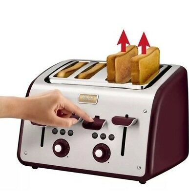 Tefal 4 Slice Maison Toaster Pomegranate Red, New Other