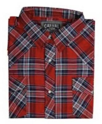Men's Big And Tall Casual Country Long Sleeve Plaid Shirt New Button Down 5xl