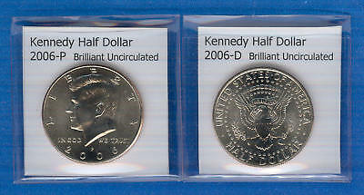 Kennedy Half Dollars: 2006-P and 2006-D from Mint Rolls