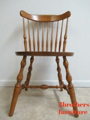 Vintage Oak Bent Brothers Windsor Back Dining Room Side Desk Chair