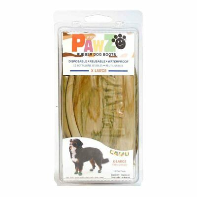 PawZ Protex Dog Boots Water-Proof Paws Disposable Reusable X-Large Camo