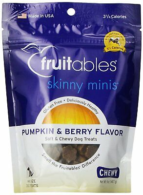 Fruitables Skinny Minis Pumpkin Berry Flavor Soft Chewy Training Dog Treats 5 oz