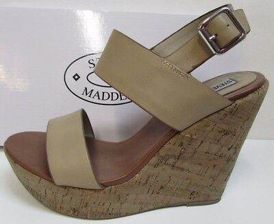 6be0d12fb14 STEVE MADDEN STRAPPY Fabric Platform Ankle Strap Shoes Wedge Heels ...
