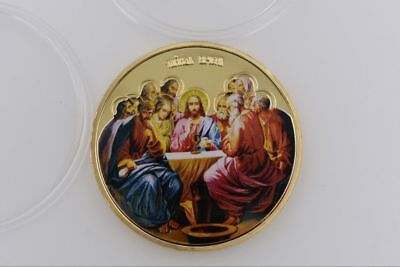 Jesus Coin Collection Commemorative Gold Art Coins Last Supper Gifts Christmas