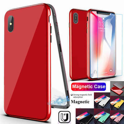 360°Full Magnetic Tempered Glass Phone Case Cover For iPhone XS Max 8 6S 7 Plus