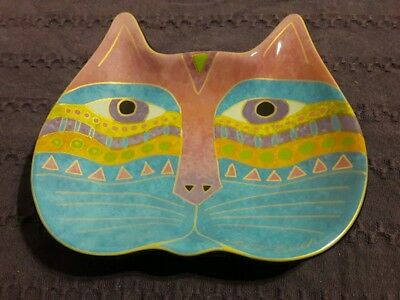 2007 Laurel Burch Ceramic Cat Dish Wine Things~BRAND NEW Old Stock!