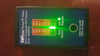 PF5 Pocket Power Frequency Meter ELF/VLF (gauss meter) Electric and Magnetic EMF